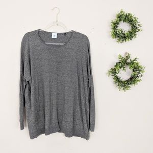 Cabi   Grey Lightweight Crewneck Sweater S